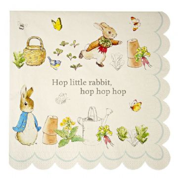 Peter Rabbit Paper Napkins - pack of 20, Large